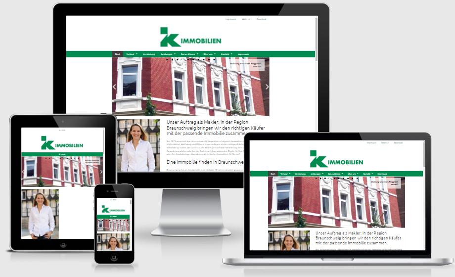 Immobilienmakler responsive webdesign